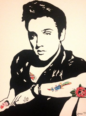 elvis with betty boo tattoo  80 x 60
